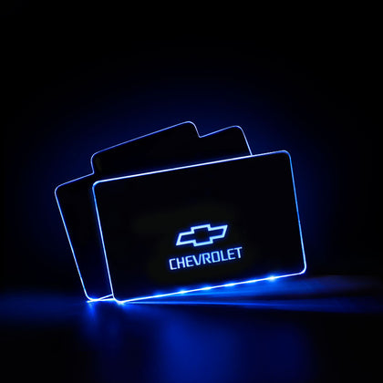 Chevrolet RF Remote Control Car LOGO LED Floor Mat For Car Interior Upgrades - Light Accessories