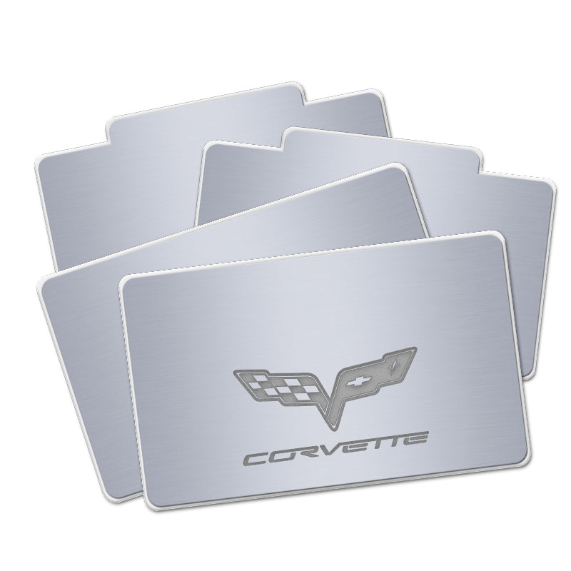 Corvette AUTO LED Floor Mats | Illuminated Plates With Car Brand LOGO - Vehicle Parts & Accessories