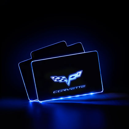 Corvette Car Creative Luminous Interior LED Foot Mats