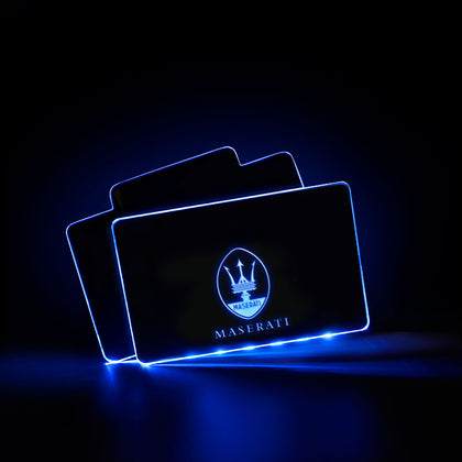 Maserati Car Creative Luminous Interior LED Foot Mats
