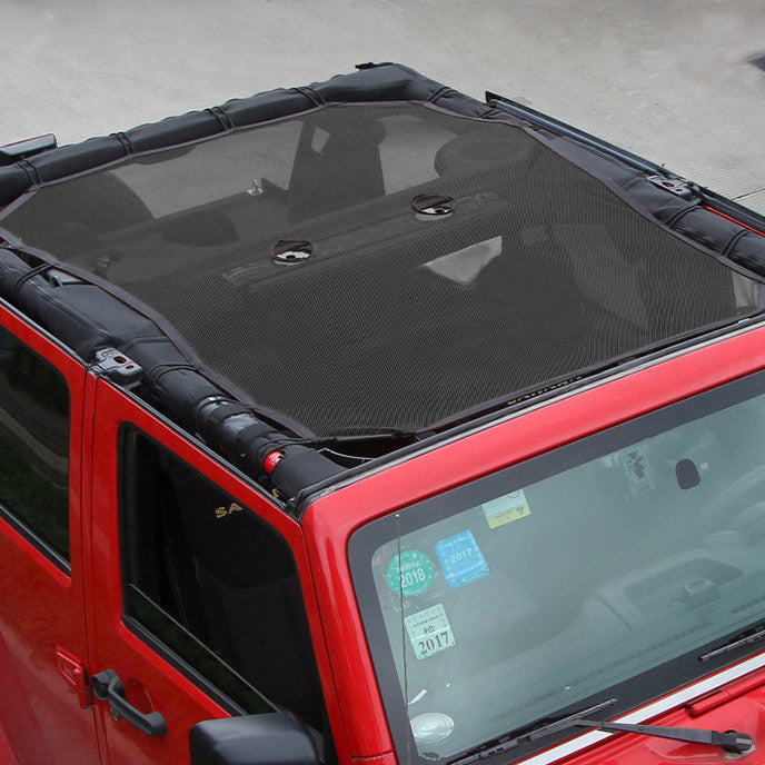 Sunshade Mesh Top Cover For 2018 Jeep Wrangler JL 4 Doors