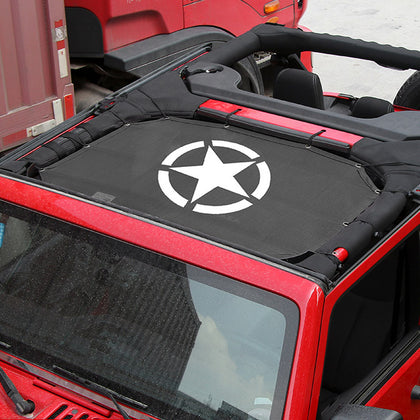 Sunshade Mesh Top Cover For 2018 Jeep Wrangler JL 2 Doors And 4 Doors