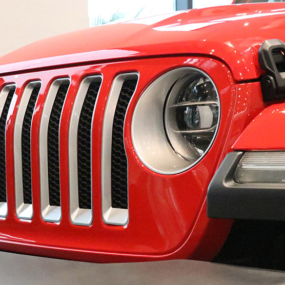 Jeep Wrangler JL 2018 Car Headlights Appearance Decorative Cover Trim