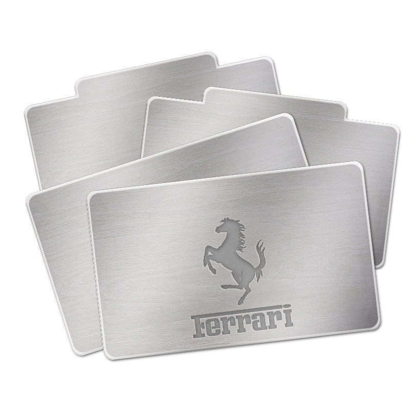 Ferrari AUTO LED Floor Mats | Illuminated Plates With Car Brand LOGO - Vehicle Parts & Accessories