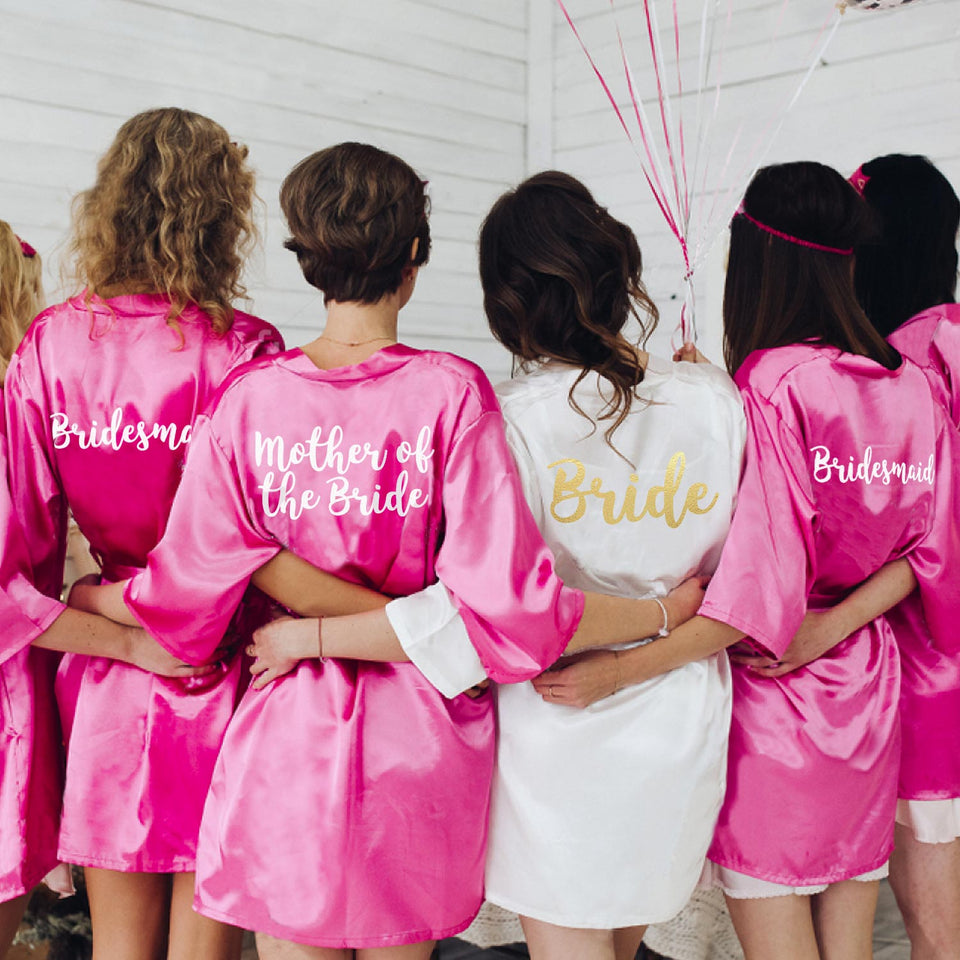 Hen Party Clothing Robes Rose Gold
