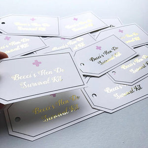 Foiled Wedding Milestone Hen Party Cards
