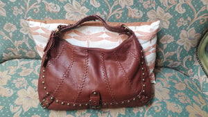 Isabella Fiore Studded Saddle Bag
