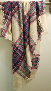 Plaid Acrylic Scarf - Large