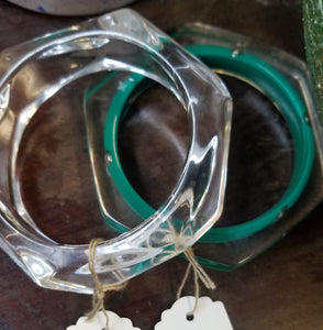 Lucite Bangle with Studs
