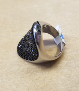 Black Crystal Pave Ring
