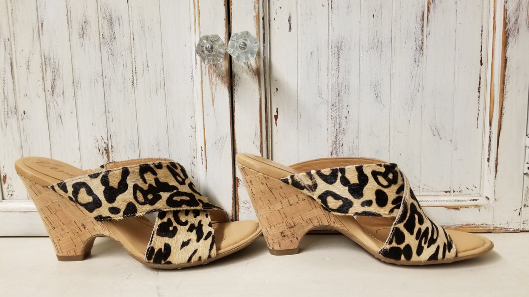 Leopard Print Wedge Sandals