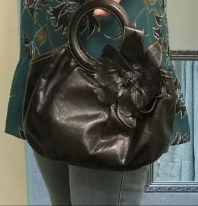 Isabella Fiore Handbag with Flower
