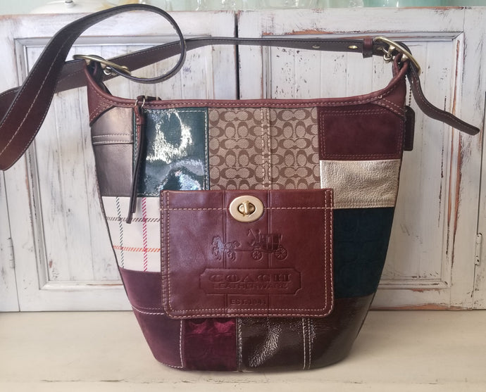 Coach Bleecker Patchwork Bucket Bag
