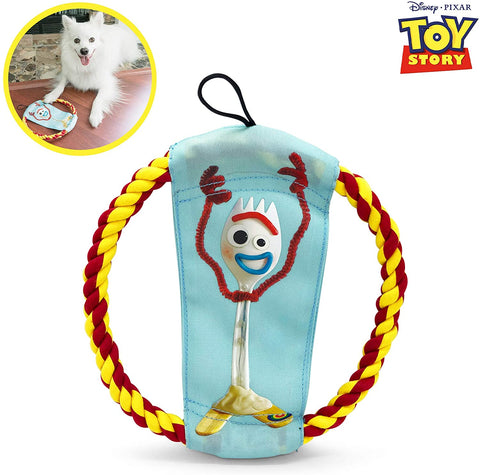 Woody & Forky Rope Flyer Dog Toy