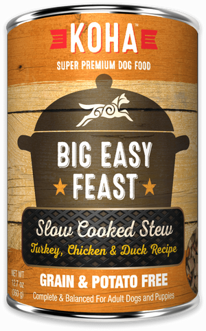 Big Easy Feast Slow Cooked Stew Turkey, Chicken, & Duck for Dogs - In Store Only