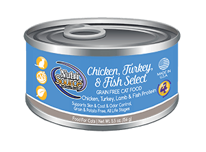 Chicken, Turkey, & Fish Select Canned Cat Food - In Store Only