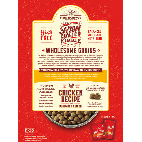 Chicken Recipe with Pumpkin & Quinoa Raw Coated Kibble Wholesome Grains - In Store Only