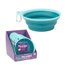 Casey's Collapsible Bowl PDQ, Aqua- 1 cup
