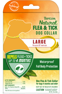 Natural Flea And Tick Collar For Large Dogs