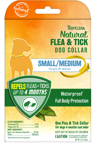 Natural Flea And Tick Collar For Small/Medium Dogs