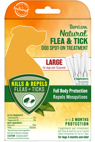 Natural Flea And Tick Spot Treatment For Large Dogs