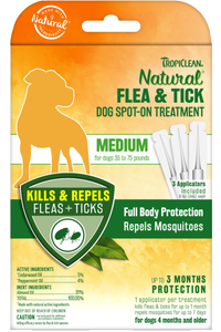 Natural Flea And Tick Spot Treatment For Medium Dogs