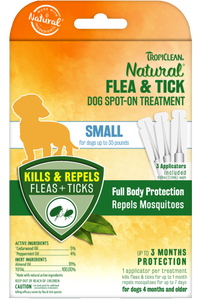 Natural Flea And Tick Spot Treatment For Small Dogs