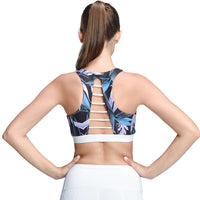 2018 Strappy Bra Cropped Women Yoga Bra Athletic Built-in Pad Sports Push Up Tank Top For Girls