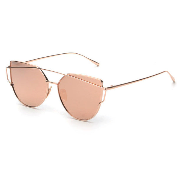 NEW Brand Designer Women Sunglasses Metal Frame Vintage Mirror Shades