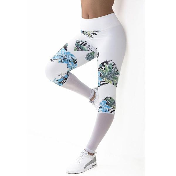 2018 Yoga Leggings Women Printed Women's Workout Elastic Running Gym Fitness Pants.