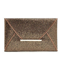 Womens leather handbag Sequins Envelope Bag Evening Party Purse Clutch Handbag