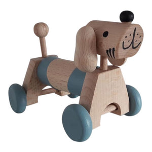 Wooden Dog on Wheels