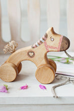 Load image into Gallery viewer, Wooden Pull Along Horse