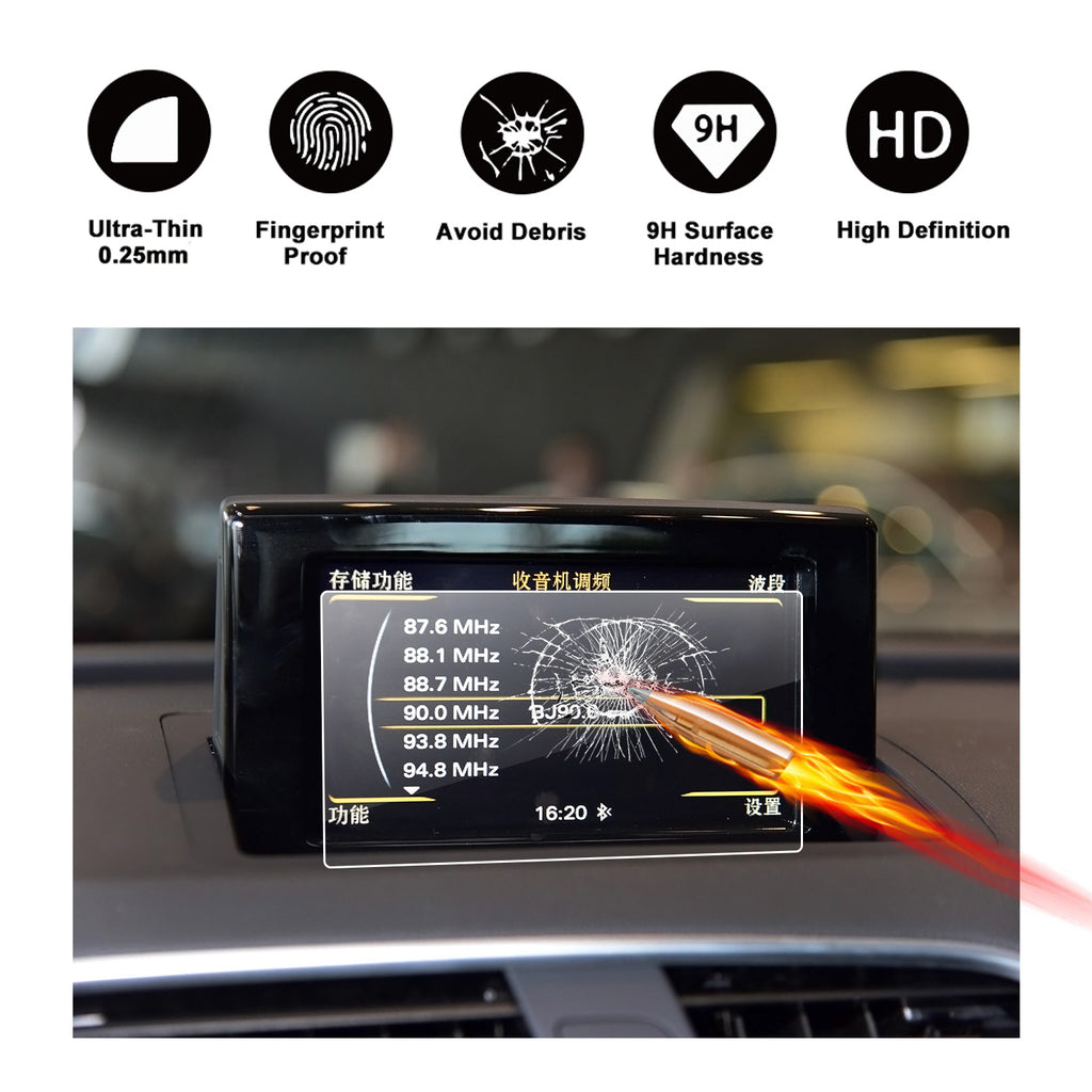 2011-2017 Audi A1Audi S3Audi Q3 Navigation Display GPS Screen Flim Protector(7-Inch)