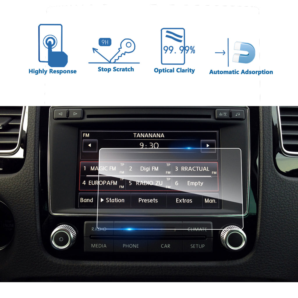 2011 2012 2013 2014 2015 2016 2017 VW Volkswagen Touareg 6.5-Inch Navigation Screen Protector