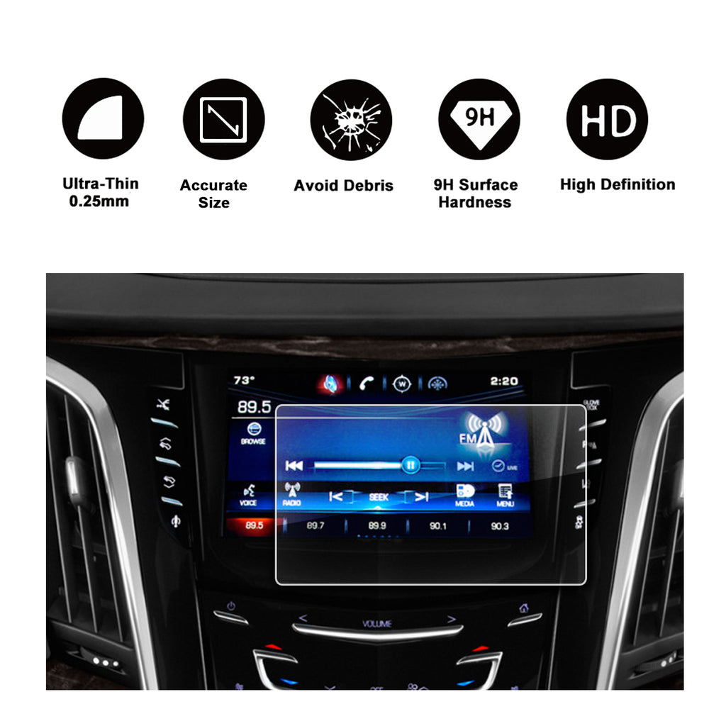 2015-2018 كاديلاك إسكاليد 8-Inch CUE infotainment Interface Touchscreen Car Navigation Touch Screen Protector
