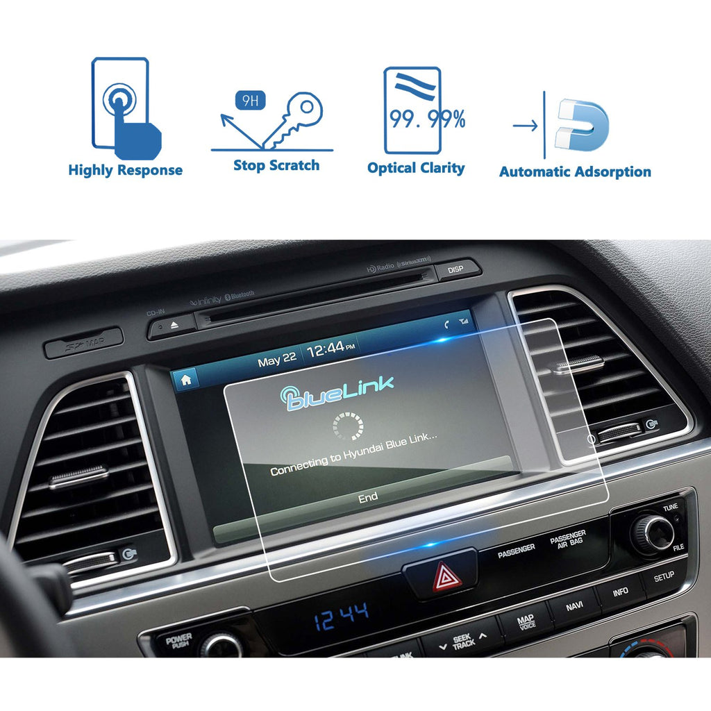 2017 2018 Hyundai Sonata Blue Link 8-inch Display Screen Protector