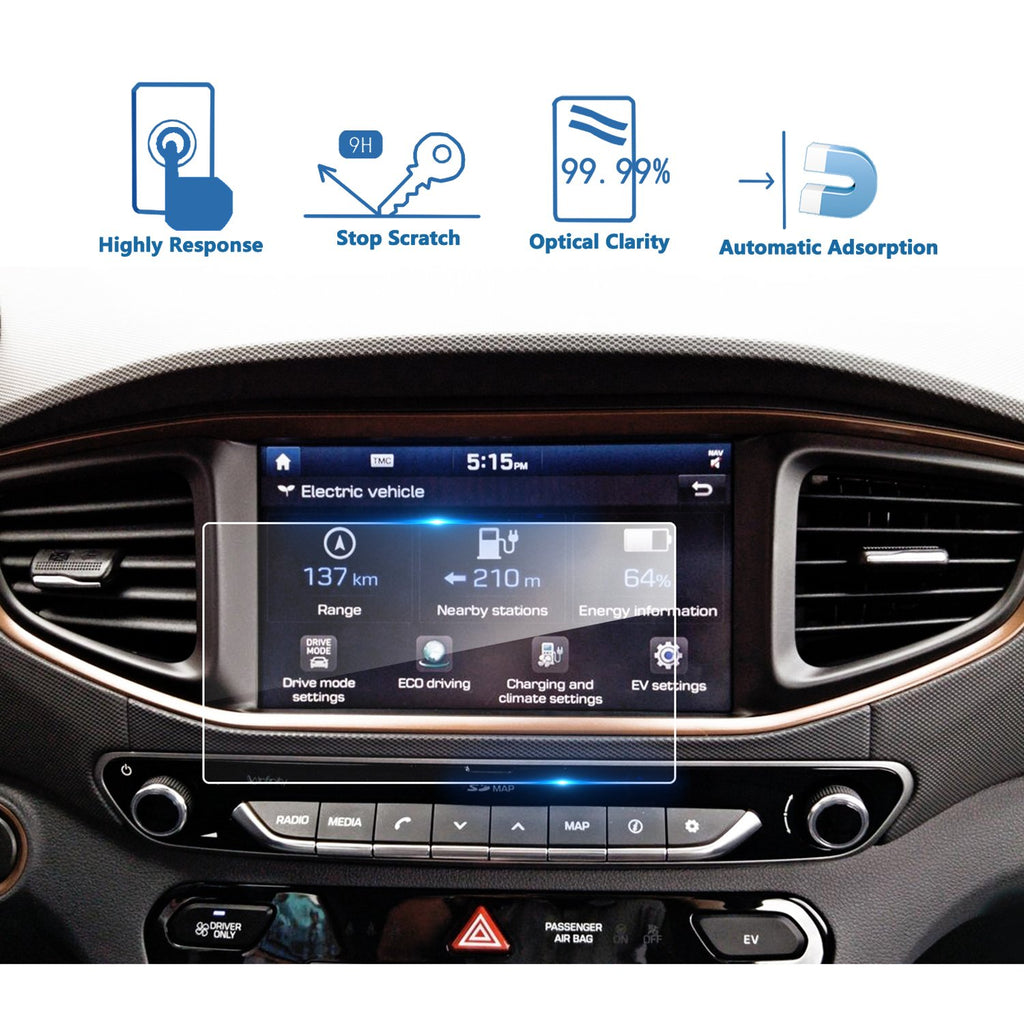 2017 Hyundai Ioniq 8-inch Display Screen Mlinzi