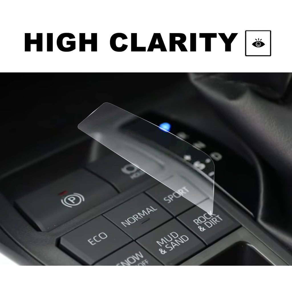 2018 Toyota Camry XLE XSE 8-Inch Display Protectors &Gear Position Panel Film, PET Plastic Film