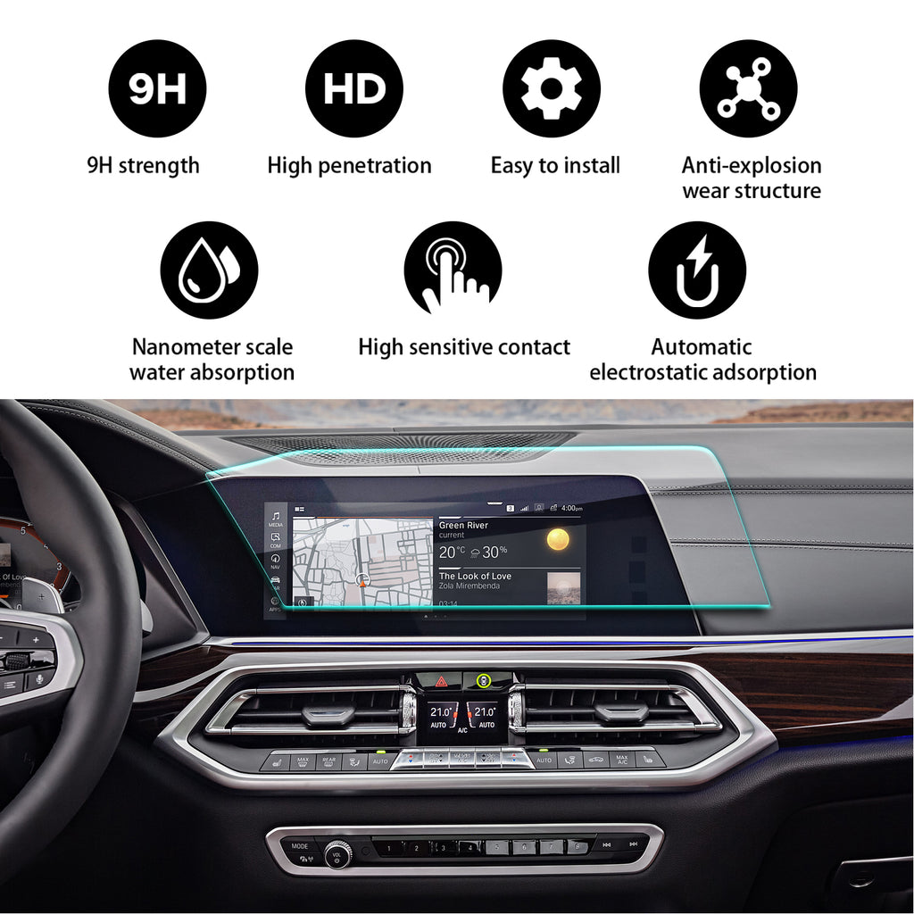 2019 BMW X5 12.3-Inch Navigation Screen Tempered Glass