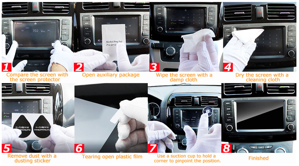 Car Screen Protector Standard Installation