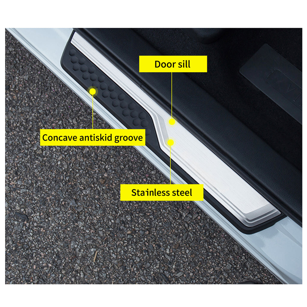 შინაგან საქმეთა აქსესუარები Honda-CRV, CRV-Door-Sill-Guard-Scuff-Plate, CRV-Door-Entry-Guard-Cover-Protector