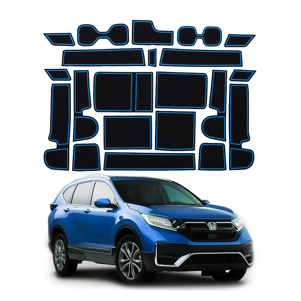 I-Honda-CRV-Interior-accessories, i-Door-and-Center-Console-Groove-Pad-Mats-for-CRV-2018-2019-2020