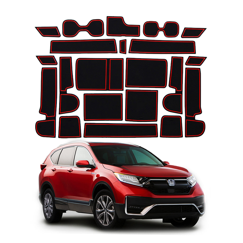 Honda-CRV-Interior-Accessories, Door-and-Center-Console-Groove-Pad-Mats-for-CRV-2018-2019-2020