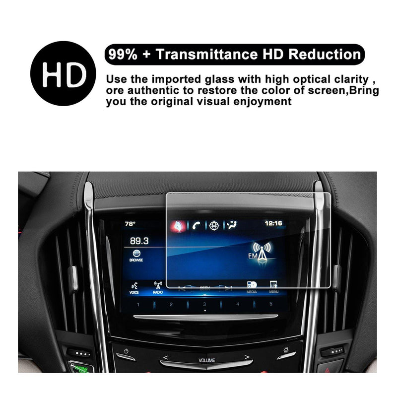 2013-2018 Cadillac ATS Cadillac SRX 8-Inch CUE Infotainment Interface Touchscreen Car Navigation Touch Screen Protector - LFOTPP