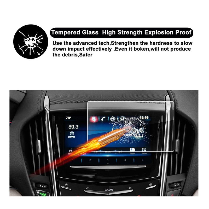 2013-2018 Cadillac ATS Cadillac SRX 8-Inch CUE Infotainment Interface Touchscreen Car Navigation Touch Screen Protector