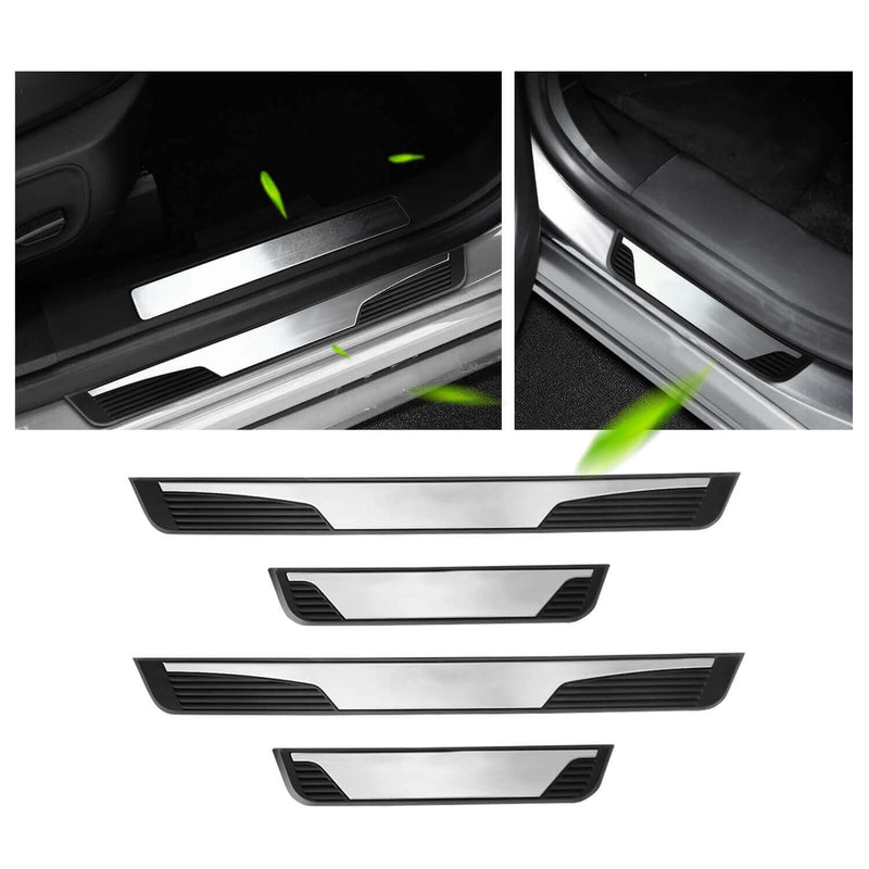 YEE PIN Car Threshold, Pedal protectors Door, protector stainless plate wear, car accessories for 2013-2021 Renault Captur [Silver no word 4.4 universal]-lfotpp-auto-parts.myshopify.com