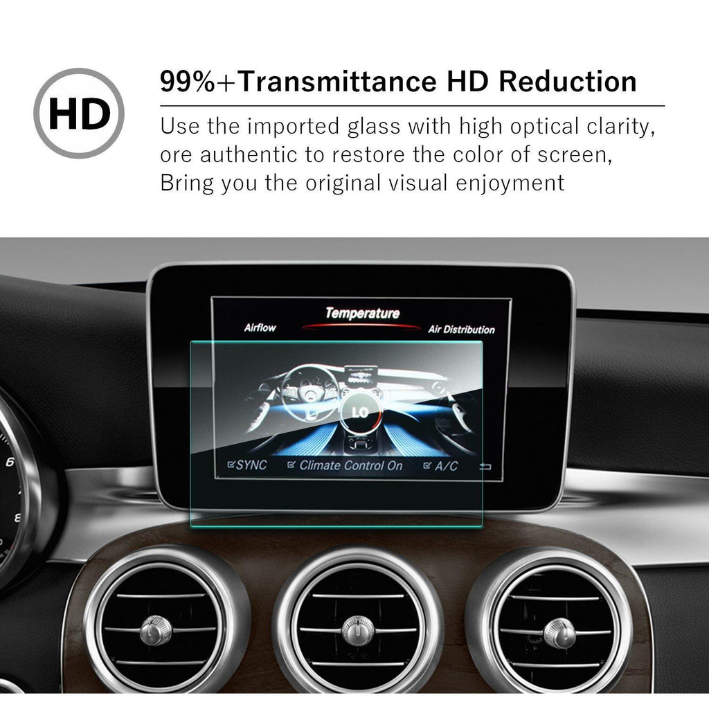 2014-2018 Mercedes benz C-CLASS W205 7-inch Navigation Screen Tempered Glass