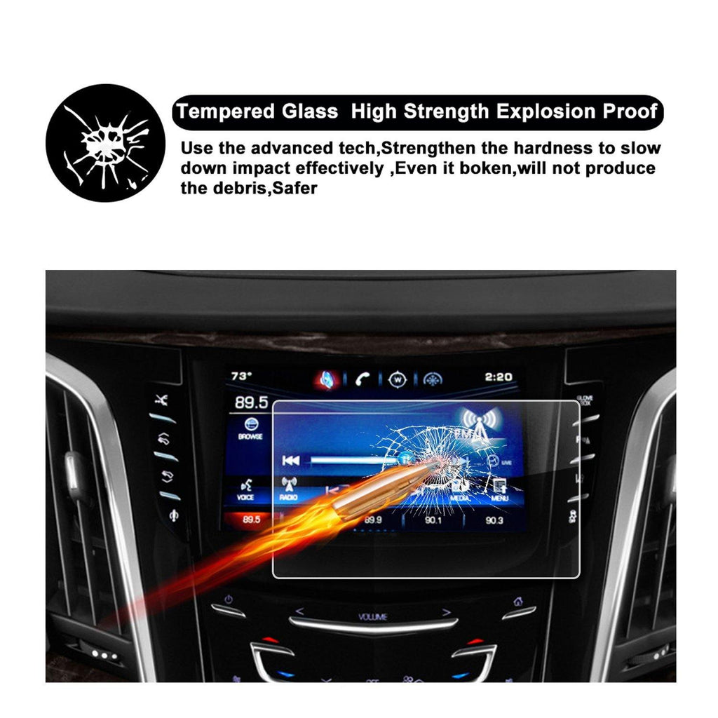 2015-2018 Cadillac Escalade 8-Inch CUE infotainment Interface Touchscreen Car Navigation Touch Screen Protector - LFOTPP