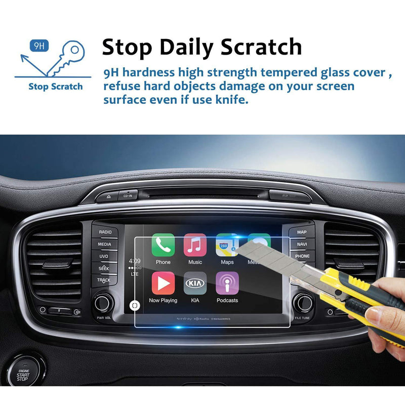 2016 2017 2018 Sorento UVO 8-Inch Display Screen Protector